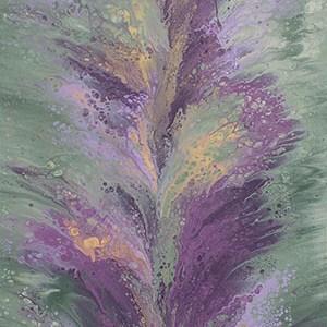 """Cassandra Tondro, """"Sage Speaks,"""" abstract art"""