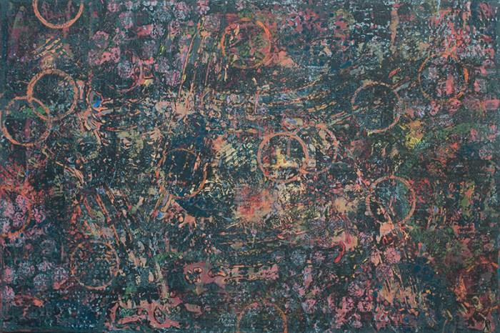 """Cassandra Tondro, """"Monkey Mind,"""" abstract painting"""