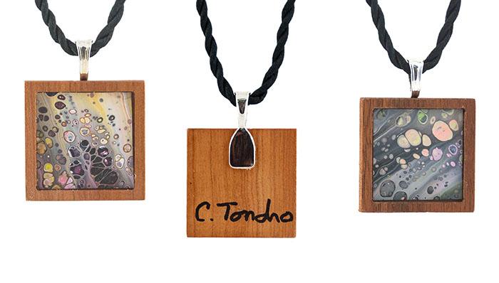 Cassandra Tondro, art necklace