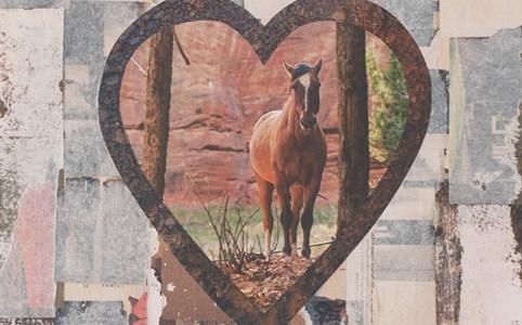 "Cassandra Tondro, ""Lone Journey,"" collage art"