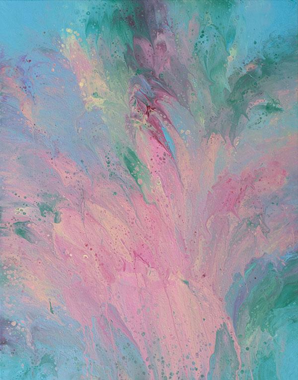 """Cassandra Tondro, """"Flourish,"""" abstract painting"""
