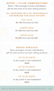 Tondue Injectable Specials