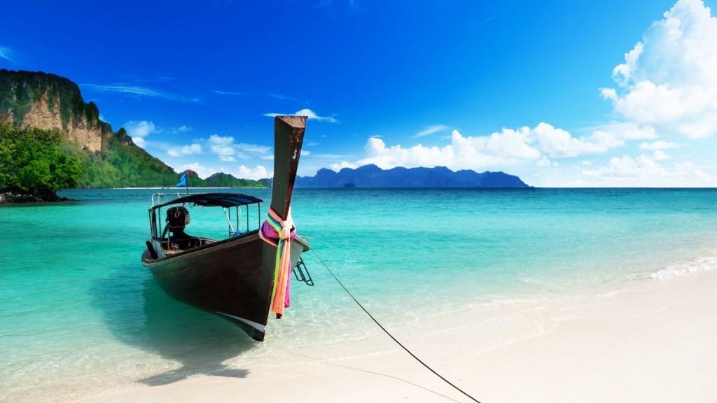 Boat on a beach in Zanzibar
