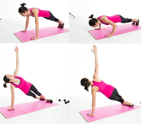 Image result for Push up to side plank: