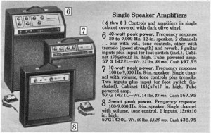 Sears 1969 catalog, page 928, guitar amplifiers