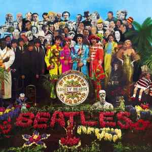 Artwork for The Beatles album Sgt. Pepper's Lonely Hearts Club Band