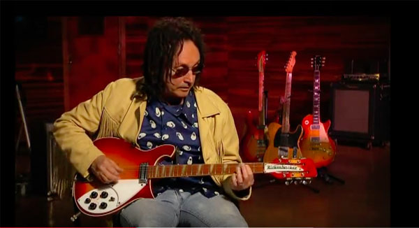 Mike Campbell and his 12-string Rickenbacker