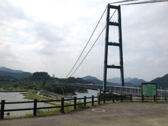 宮ヶ瀬湖畔園地の水の郷大つり橋