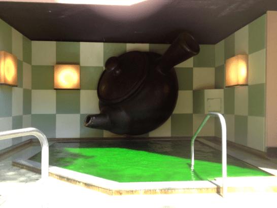 箱根小涌園ユネッサンの緑茶風呂