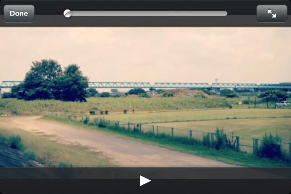 「RoadMovies」できあがったムービーの再生