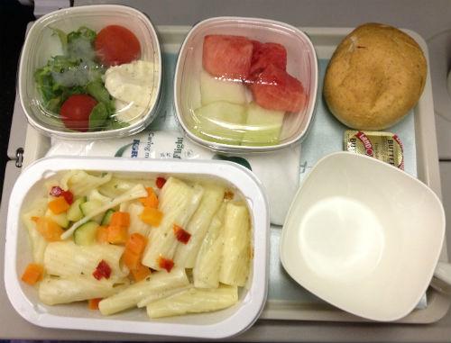 大韓航空 成田便 機内食 パスタ