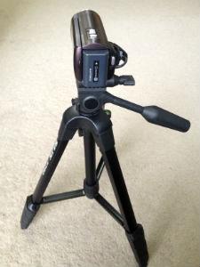 SLIK三脚F740にビデオカメラを設置
