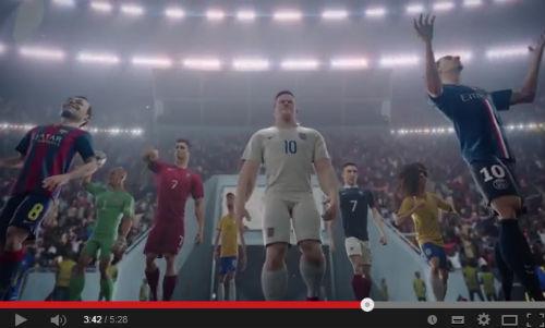 NIKEのサッカー CGアニメ短編