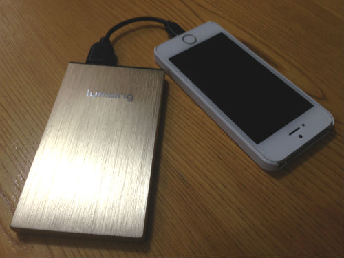 lumsing6000mah-iPhone5s 充電