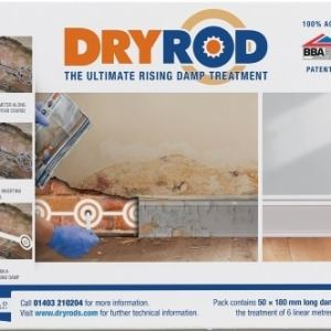 Dryrod Damp Proofing Rods - 10 Pack