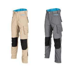 Beige & Graphite Ripstop Trouser Front