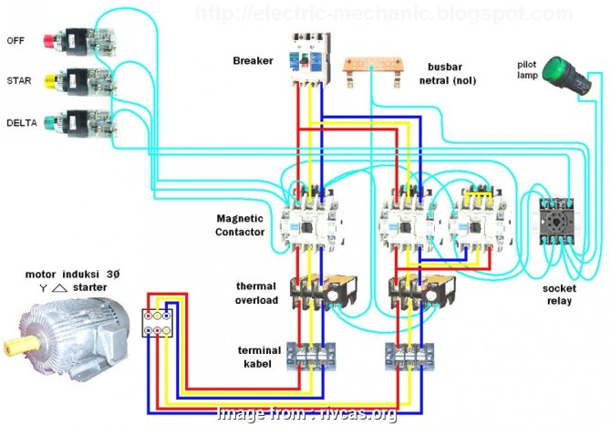 diagram star delta starter control wiring diagram with