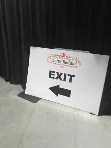 Alternative Exit at Winter Funland