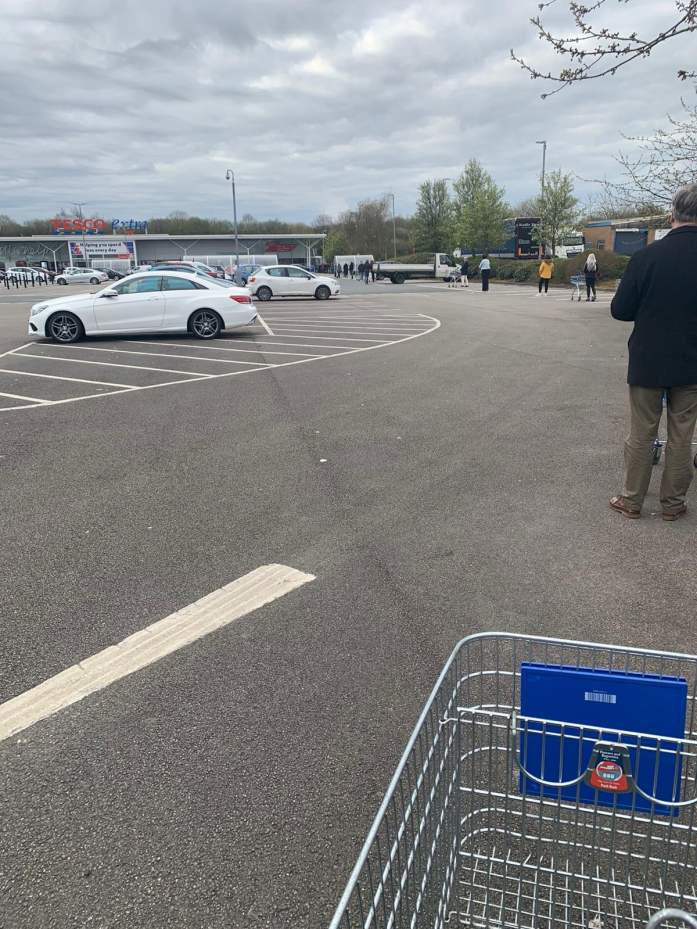 Tesco Queuing at Irlam