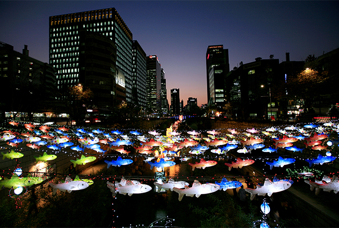 Nightscape of Seoul Lantern Festival