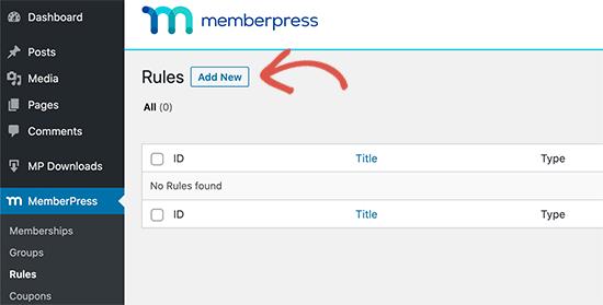 Agregar nueva regla