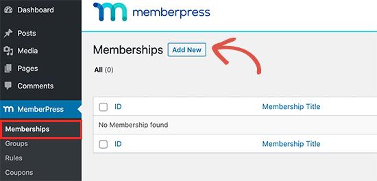 Agregar un plan de membresía