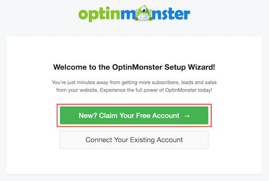 Asistente de configuración de inicio de OptinMonster