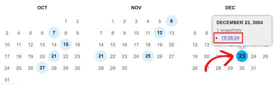 Biblioteca del Congreso selecciona mes y día