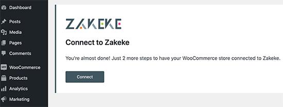 Conectar la cuenta de Zakeke