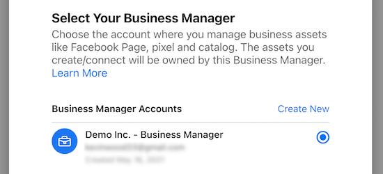 Seleccionar cuenta de administrador comercial