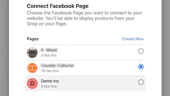Conectarse a la página de Facebook