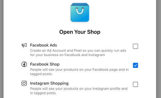 Casillas de verificación de tienda abierta