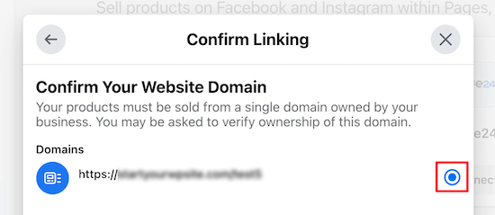 Confirmar el nombre de dominio de la tienda WooCommerce