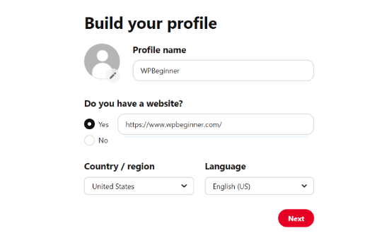 Construye tu perfil