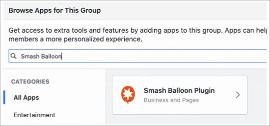 Encuentra la aplicación Smash Balloon
