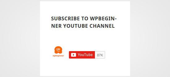 Suscríbete al canal de YouTube en la barra lateral