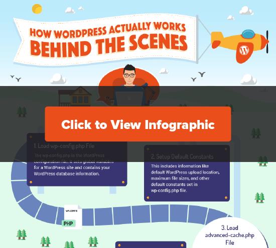 Haga clic para ver la infografía de WordPress detrás de escena