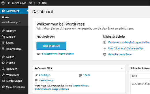 WordPress en alemán