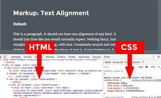 Paneles HTML y CSS en la ventana Inspeccionar