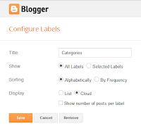 etiquetar gadget en la pestaña Diseño del panel de Blogger