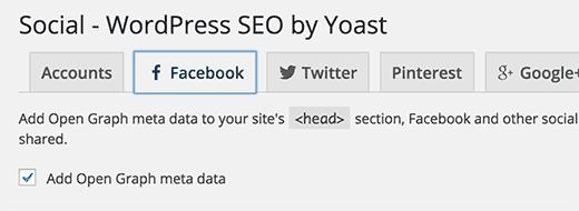 Habilitar metadatos de gráficos abiertos de Facebook en WordPress