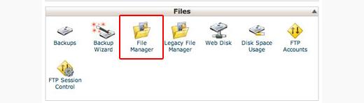 Icono del Administrador de archivos en cPanel