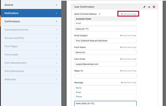 Usar etiquetas inteligentes para crear notificaciones personalizadas