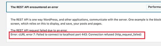error cURL 7 en WordPress