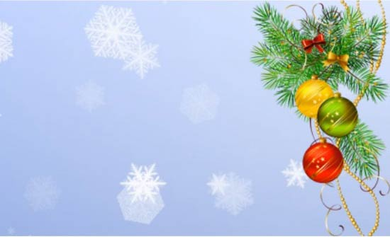 Bola de Navidad en rama