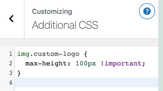 Personalizador CSS adicional de WordPress