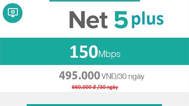 net 5 plus viettel, gói cước cáp quang Net 5 Plus Viettel