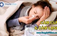 Cảm cúm và cảm lạnh khác nhau hoàn toàn