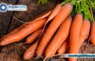 Công dụng của cà rốt với sức khỏe