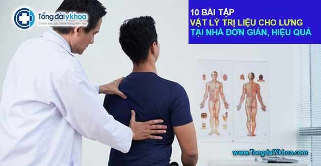 10 bài tập vật lý trị liệu cho lưng tại nhà đơn giản, hiệu quả
